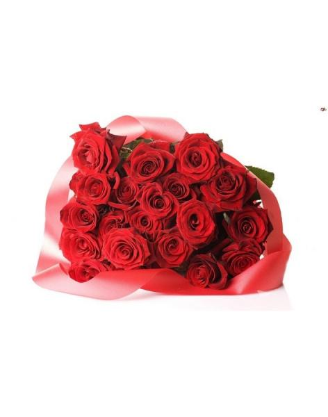 Bouquet of 21 red roses: delivery of flowers in