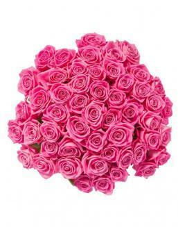 Bouquet of 51 pink roses | Pink roses flowers