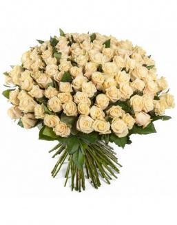 Bouquet of 51 cream roses | Roses to mother expensive flowers