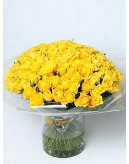 Bouquet of 101 yellow rose bushes | Roses to mother expensive flowers