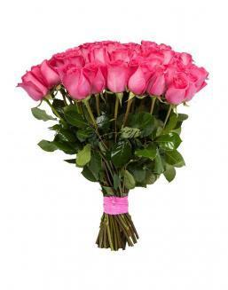 Bouquet of 15 pink Dutch roses | Pink roses flowers