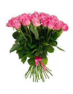Bouquet of 25 pink holland roses | Pink roses flowers