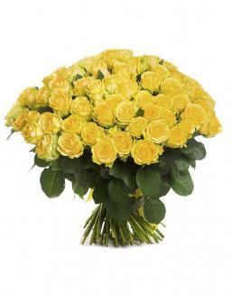 Bouquet of 101 yellow holland roses | Roses to mother expensive flowers