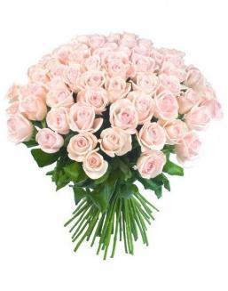 Bouquet of 51 pink Dutch roses | Pink roses flowers