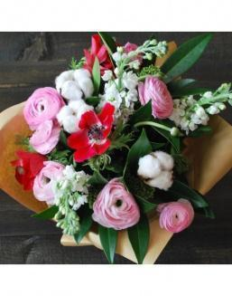 Simpathy bouquet | Pink flowers to mother inexpensive flowers