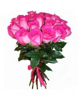 21 high elite pink roses | Pink flowers to mother inexpensive flowers