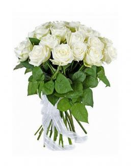 21 high elite white roses | Flowers to girlfriend flowers