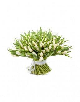 Bouquet 201 white tulips | Flowers to girlfriend flowers